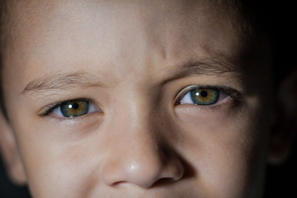 eye, kid, baby